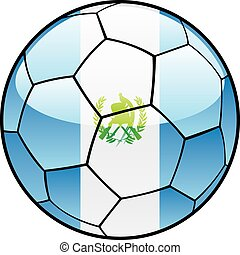 Guatemala flag on soccer ball - vector illustration of...