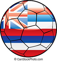 Hawaii flag on soccer ball