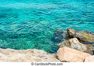 View of the Mediterranean Sea - Top view of the...