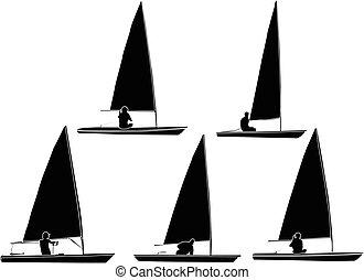sailboat 2 - vector - illustration of sailboat 2 - vector