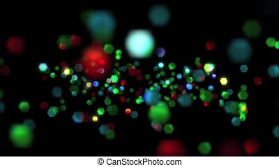 Particle Glitter HD Loop - High definition animated loop of...