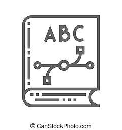 Design know icon - Design know thin line vector icon...