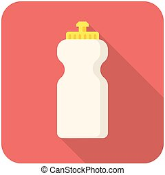 Bottle water icon - Bottle water, modern flat icon with long...