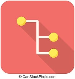 Sitemap icon - Sitemap, modern flat icon with long shadow