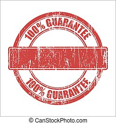 Guarantee stamp - 100 Guarantee - template stamp