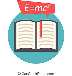 Science Book, Flat design, vector illustration, isolated on...