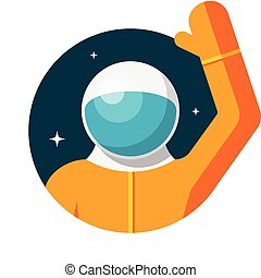 Astronaut, Flat design, vector illustration, isolated on...