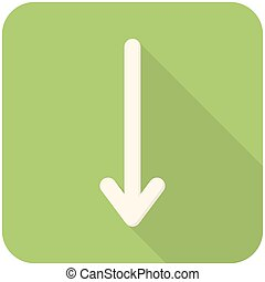 Down arrow icon - Down arrow, modern flat icon with long...