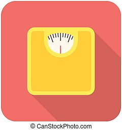 Bathroom scale icon - Bathroom scale, modern flat icon with...