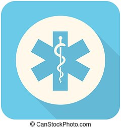 Star of Life icon - Star of Life, modern flat icon with long...