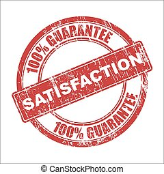 Satisfaction stamp - Vector satisfaction stamp