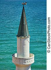 Minaret against the Sea Background - Minaret against the...