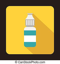 Refill bottle icon, flat style - icon in flat style on a...