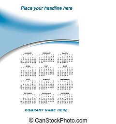 2011 stylish calendar with space for your company name