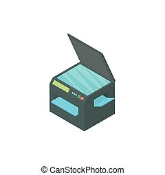 Printer 3 in 1 icon, cartoon style - Printer 3 in 1 icon in...