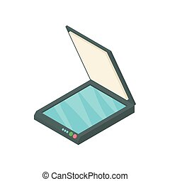 Scanner icon, cartoon style - Scanner icon in cartoon style...