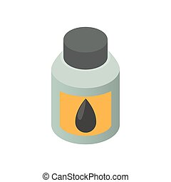 Printer ink icon, cartoon style - Printer ink icon in...