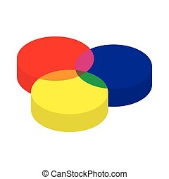 RGB color profile icon, cartoon style - RGB color profile...