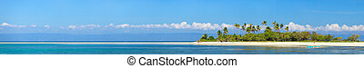 Tropical island - Panoramic photo of perfect tropical island...
