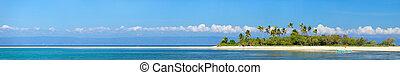 Tropical island - Panoramic photo of perfect tropical island...