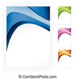 bstract wave business template in 4 - 4 abstract backgrounds...
