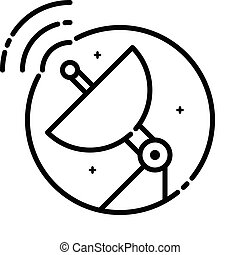 Satellite Dish Illustration - Satellite Communication...