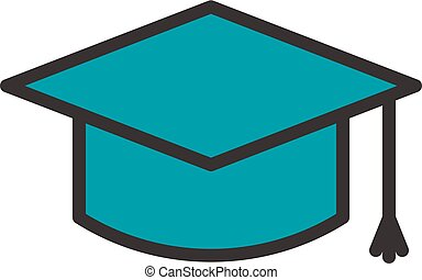 Graduation Cap Outline Icon - Graduation Cap fully scalable...