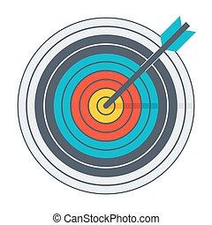 Arrow in archery target - Arrow hit goal ring in archery...
