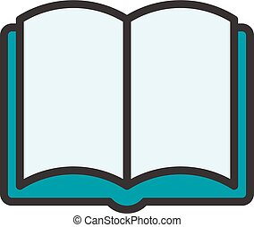 Open Book Outline Icon - Open Book fully scalable vector...