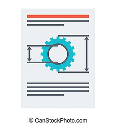 Product requirements document vector illustration in flat...