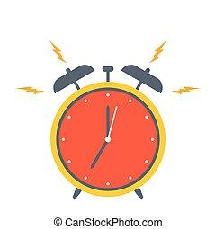 Retro alarm clock