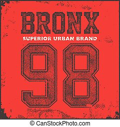 vintage bronx typography, t-shirt graphics, vector...