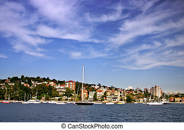 Sydney seaside residential - Stock photo of a seaside...