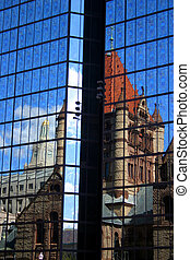 Copley Square, Boston - Stock image of Copley Square at...