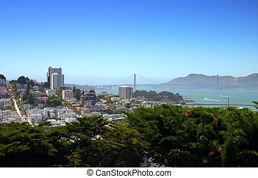 San Francisco skyline - The City and County of San Francisco...