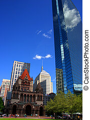 Copley Square, Boston - Stock photo of Copley Square at...