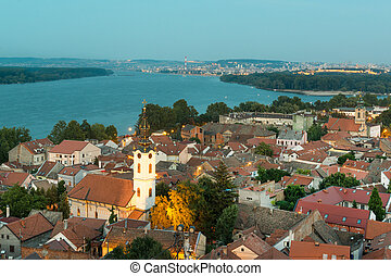 Historic town Zemun - Panoramic view of historic town Zemun,...