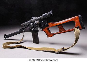 Russian assault rifle - Modern russian assault rifle with...