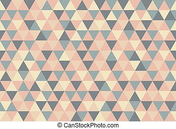 Retro Triangle Pattern Best Wishes Mosaic Background