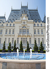 Romanian landmark - Neogothic style Palace of Culture in...