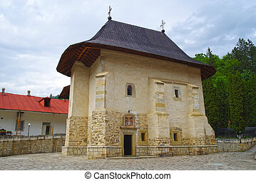 Pangarati Monastery ancient church in Moldavia