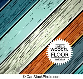Colorful wooden vector background