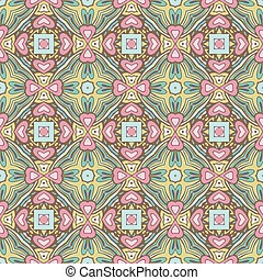 Abstract festive colorful floral vector pattern - cute...