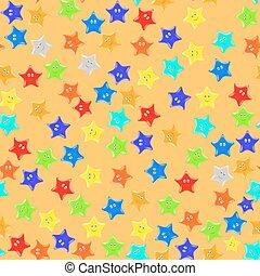 Seamless Starry Pattern.