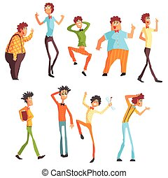 Flamboyant Know-it-all Character Set Of Graphic Design Cool...