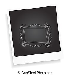 Doodle sketch of a picture frame on a photograph background