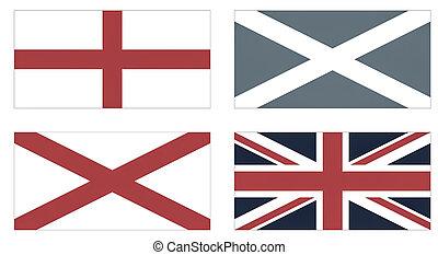 Union Jack vintage - Making of the Union Jack flag of the UK...