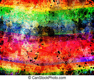 Color diagonal lines on a grunge background