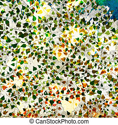 Abstract floral background with color clambering plants