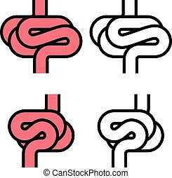 intestines simple symbol - illustration for the web